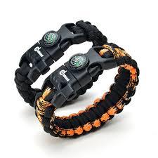 bracelet survival kit images 2 pack multifunctional paracord bracelet odoland outdoor jpg