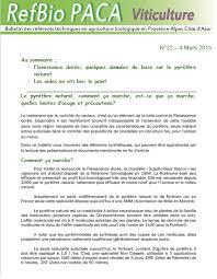 chambre d agriculture 84 bulletins des référents techniques bio en paca viticulture les