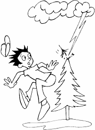 photo lightning storm hit tree earth coloring pages album