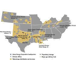 Tennessee On A Map by Utility Operations Atmos Energy