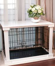 dog kennel side table dog crate end table ebay