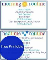 printable evening schedule morning routine chart free download editable in word kids