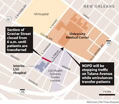 New Orleans Hotel Map by University Medical Center Opens To First Patients Nola Com