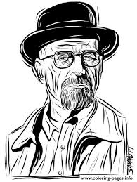 walter white breaking bad coloring pages printable