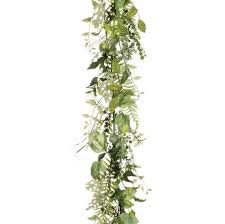 mixed foliage greenery garland diy floral table runner afloral