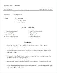 resume for exle student resume template word sle for high school 9 free excel