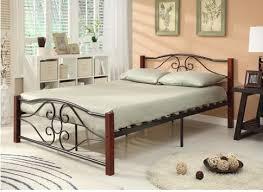 twin size heart shape bed frame metal u0026 wood with black u0026 cherry