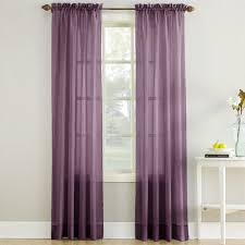 Crushed Sheer Voile Curtains by Erica Crushed Sheer Voile Curtain Panel In Purple Altmeyer U0027s