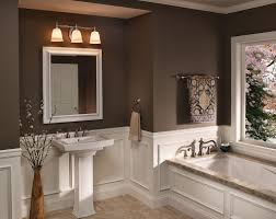 Wainscoting In Bathroom by Bathroom Light Fixtures Brushed Nickel Install Very Simple