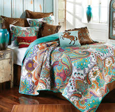 turquoise quilted coverlet western bedding cowboy bed sets at lone star western decor