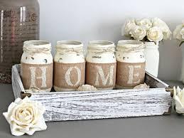 mason jar home decor rustic home decor table decor housewarming gift idea love live