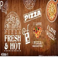 3d Stereo Custom Western Style Pizza Theme Restaurant Wallpaper