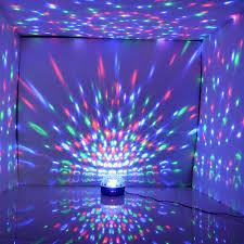led disco ball light disco stage led rgb crystal magic effect dot light ball with uk plug