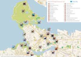 maps update 21051488 vancouver tourist attractions map