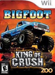 bigfoot monster truck game amazon com big foot king of crush nintendo wii video games