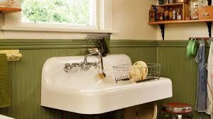 kitchen sink cabinet used a simple vintage kitchen restoration design for the arts