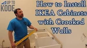 ikea kitchen wall cabinets installation ikea cabinet install how to install cabinets with crooked walls