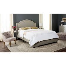 light grey upholstered bed safavieh theron light grey twin upholstered bed fox6211c t the