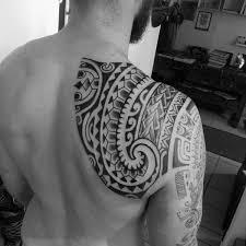 80 tribal shoulder tattoos for masculine design ideas