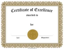 certificate of excellence template word best u0026 professional