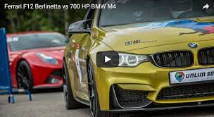 Ferrari F12 Yellow - video 700 hp bmw m4 drag races ferrari f12 berlinetta