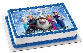 frozen birthday cake frozen 5 edible birthday cake or cupcake topper edible prints on