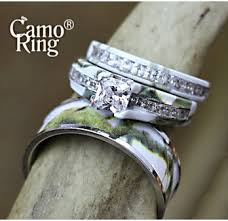 his and camo wedding rings camo his hers wedding ring sets camoring
