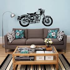 popular motorcycle wall murals buy cheap motorcycle wall murals d3681 royal enfield motorbike wall art sticker classic english motorcycle decal car wallpaper mural wall stickers