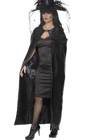 long black halloween cape deluxe women u0027s witch costume cape