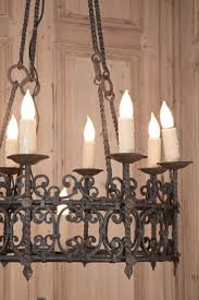 lighting natural wrought iron chandeliers for traditional living
