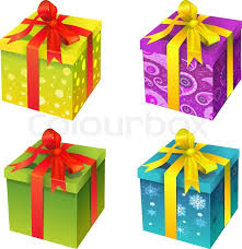 gift box vector gift box yellow color stock vector colourbox