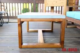 diy concrete table top ana white concrete top coffee table diy projects