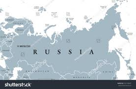 State Map With Capitals by Russia Political Map Capital Moscow National Stock Vector