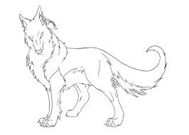 request black wolf lineart xx mystery xx deviantart
