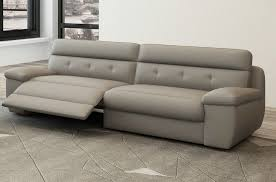 canape cuir relaxation canapé 3 places relaxation en cuir italien gris clair