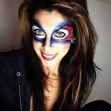 kids halloween makeup my own bri version spiderman makeup face paint pinterest