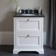 Bathroom Vanity Worktops Burlington Matt White 650mm Two Drawer Vanity Unit With Minerva