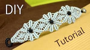 macrame flower bracelet images Macram flower bracelet tutorial jpg