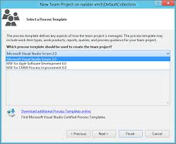 process templates scrum agile practices and visual studio