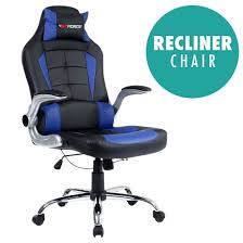 Desk Chair Gtforce Blaze Reclining Leather Sports Racing Office Desk Chair