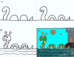 how to draw loch ness monster kids art club lesson john flickr