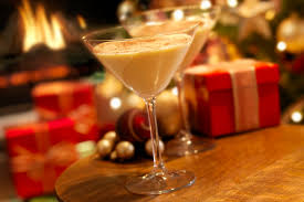 a collection of 10 holiday eggnog cocktail recipes
