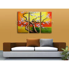 Wall Art by Huge Original Abstract Floral Painting Print Cherry Blossom Tree