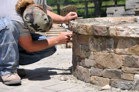 Building Stone Patio by How To Build A Stone Patio With A Fire Pit Home Design Ideas And
