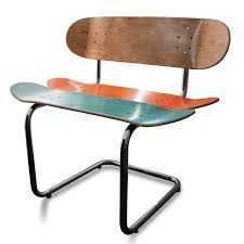 Skateboard Shelf The Rail Rider Skateboard Chair Each Chair Is Built From