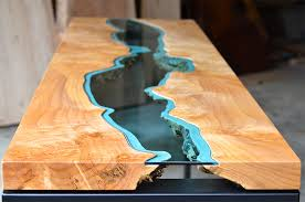 topography coffee table table topography wood furniture embedded with glass rivers and