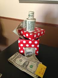 creative way to give cash as a gift tape dollars together then