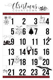 Printable Halloween Countdown Calendar Free Printable Christmas Countdown Calendar U2022 Whipperberry