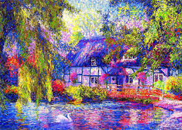 cottage painting by small