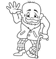 grandfather laughing dog coloring pages color luna